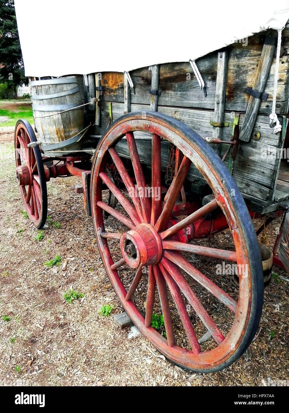 Old Wagon Wheels   Stock Image
