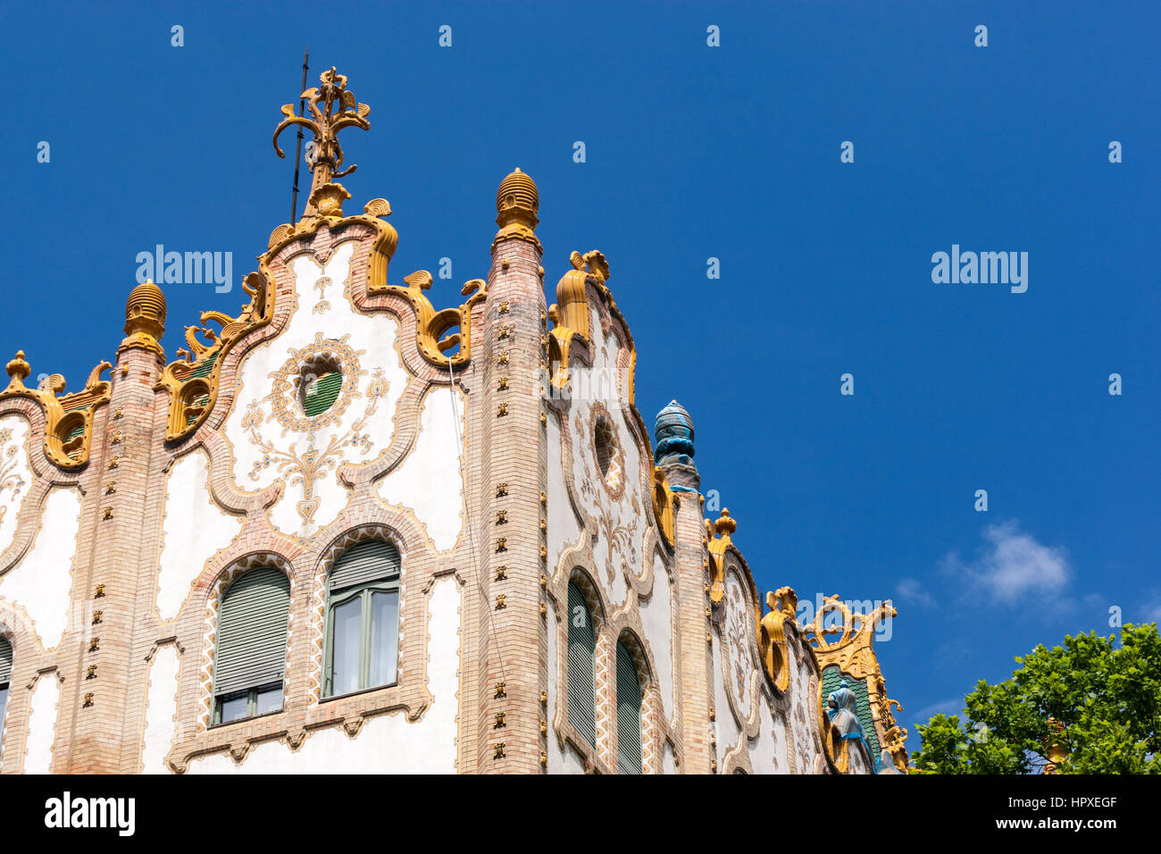 Art Nouveau Post office savings bank, Budapest, Hungary Stock Photo