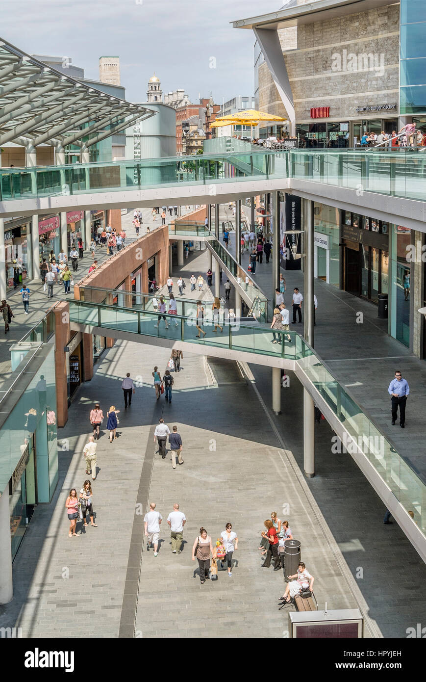 Liverpool ONE is a shopping, residential and leisure centre in Liverpool, England. The project, previously known - Stock Image