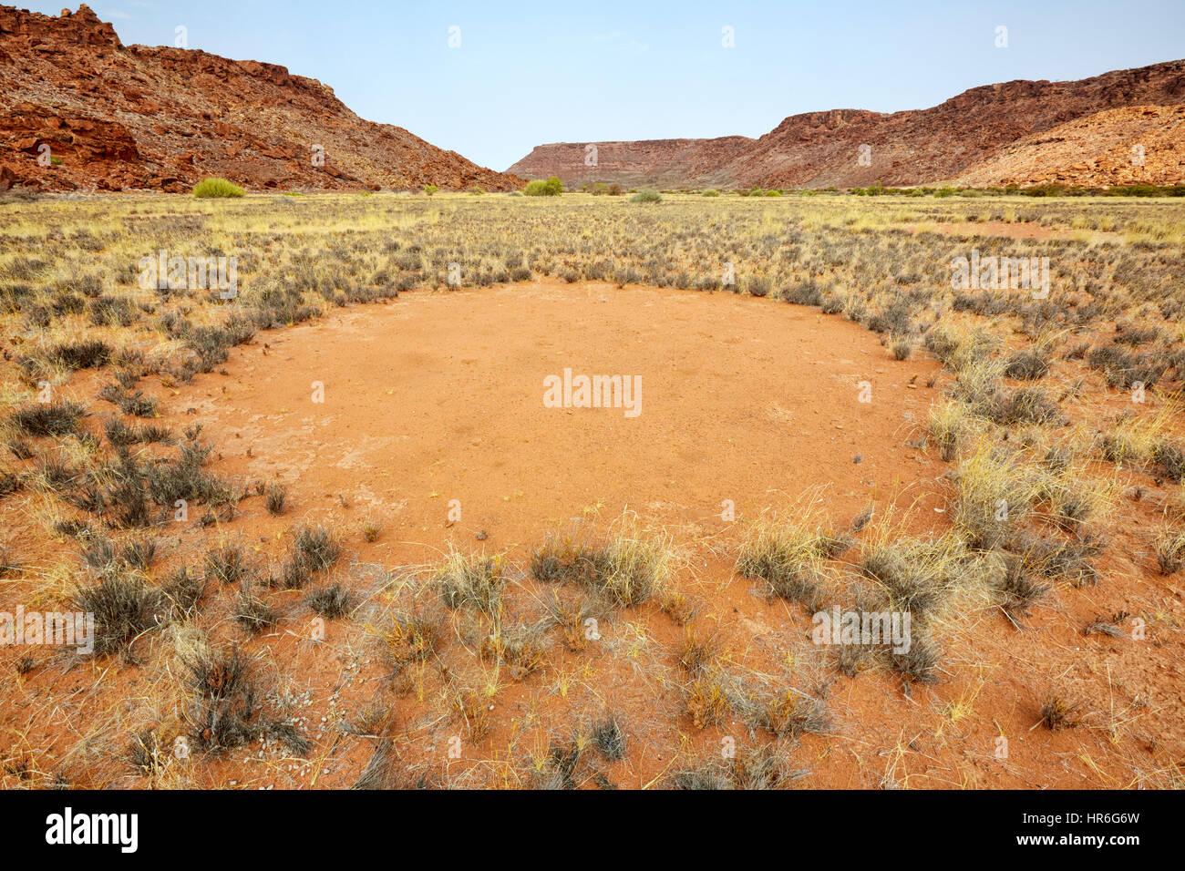 Fairy Circles, Twyfelfontein, Namibia, Africa Stock Photo