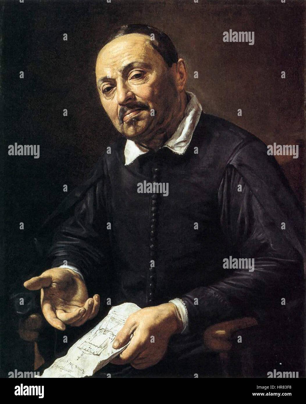 Valentin de Boulogne, Portrait of Raffaello Menicucci - Stock Image