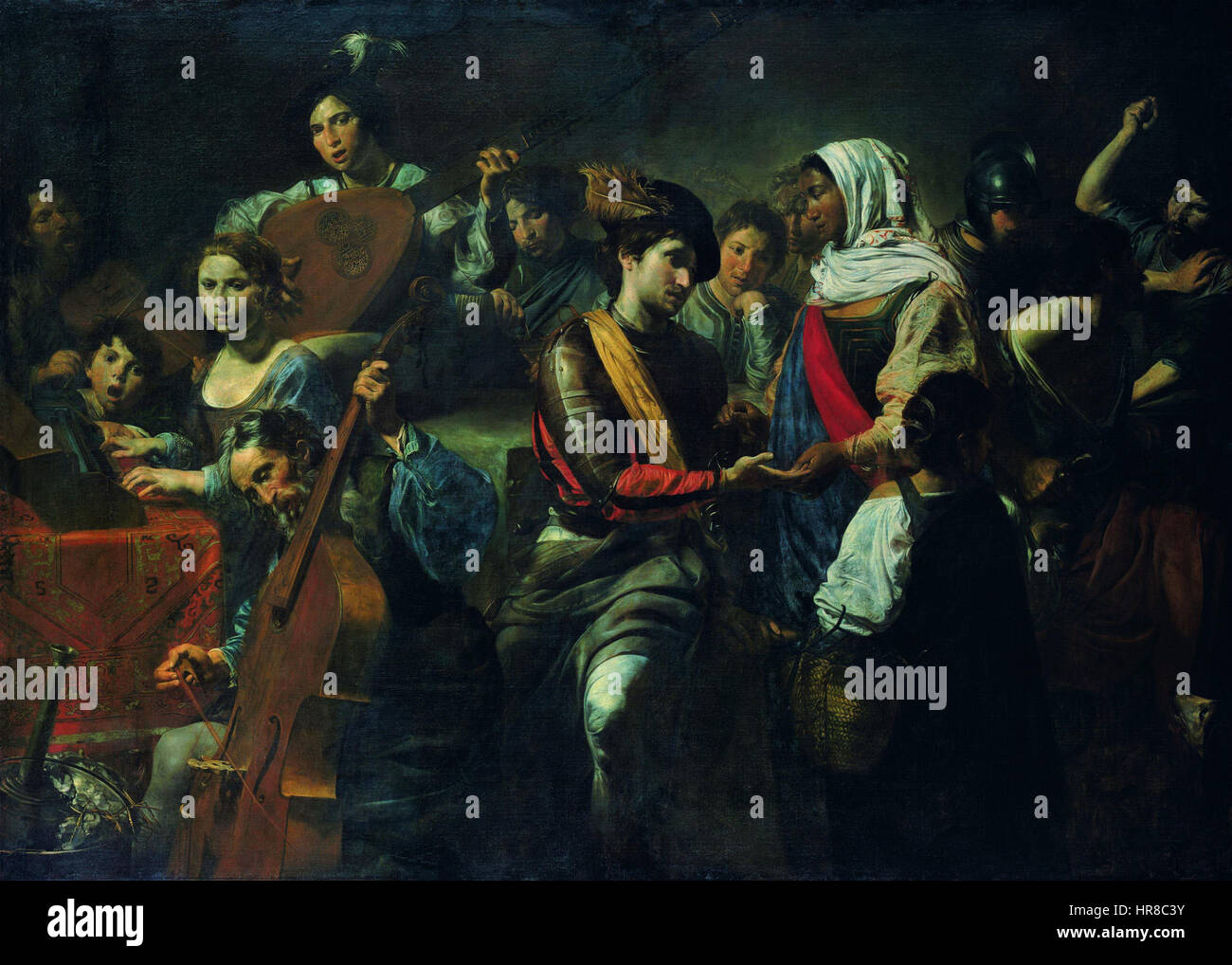 Valentin de Boulogne - La Buona ventura - Stock Image