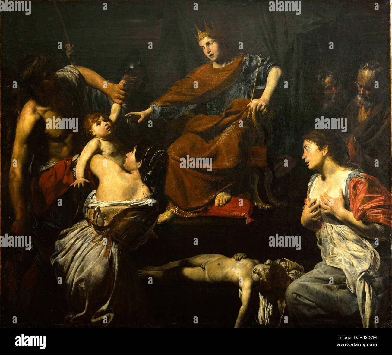 Valentin de Boulogne, Judgment of Solomon 02 - Stock Image