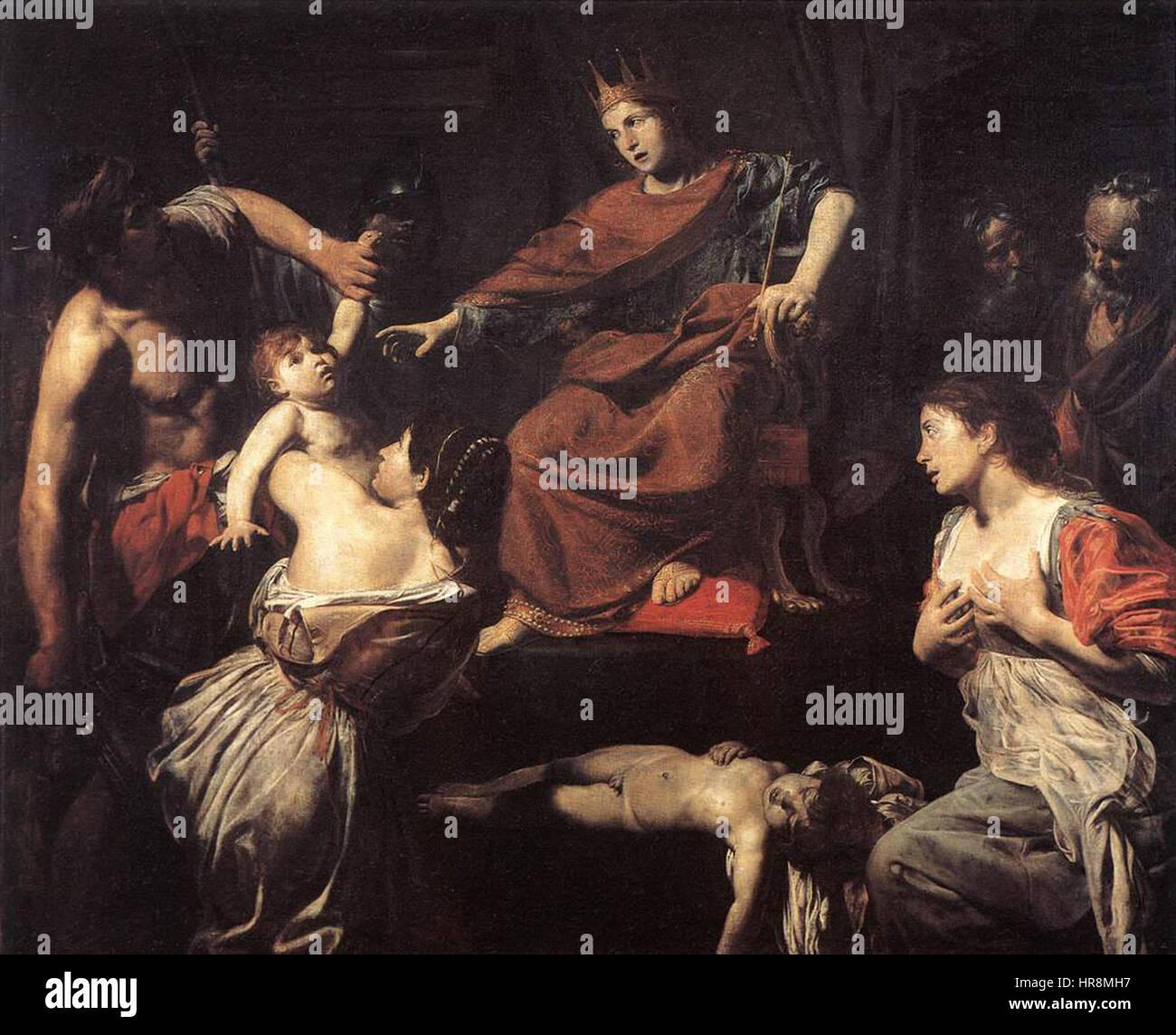 Valentin de Boulogne - The Judgment of Solomon - WGA24249 - Stock Image