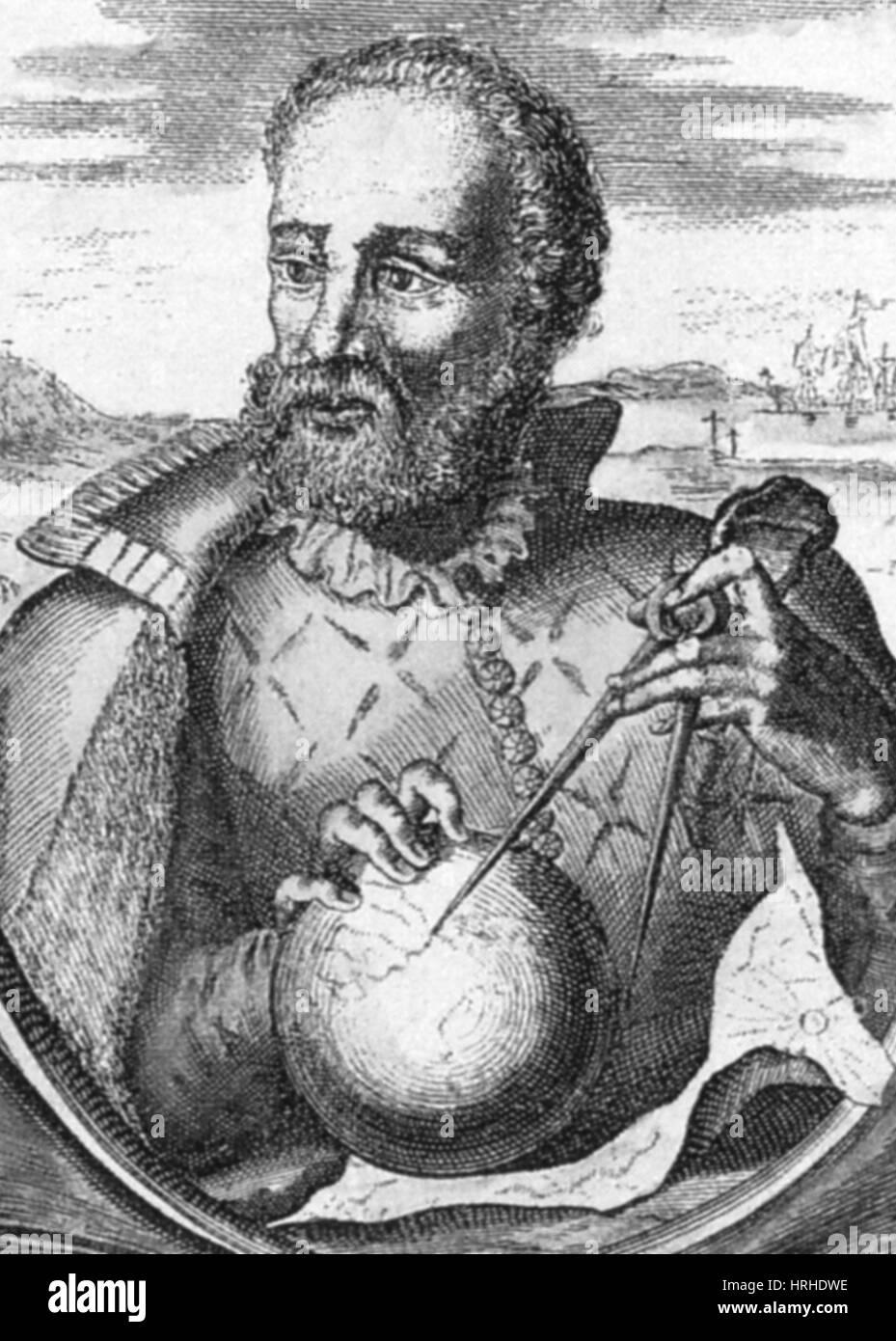 Ferdinand Magellan, Portuguese Explorer - Stock Image