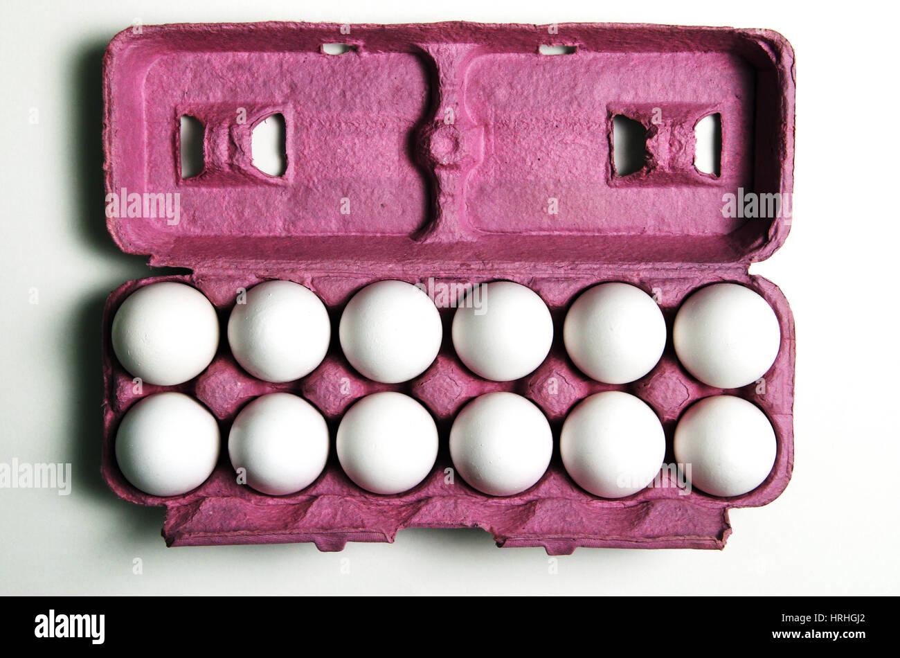 12 Eggs - Stock Image