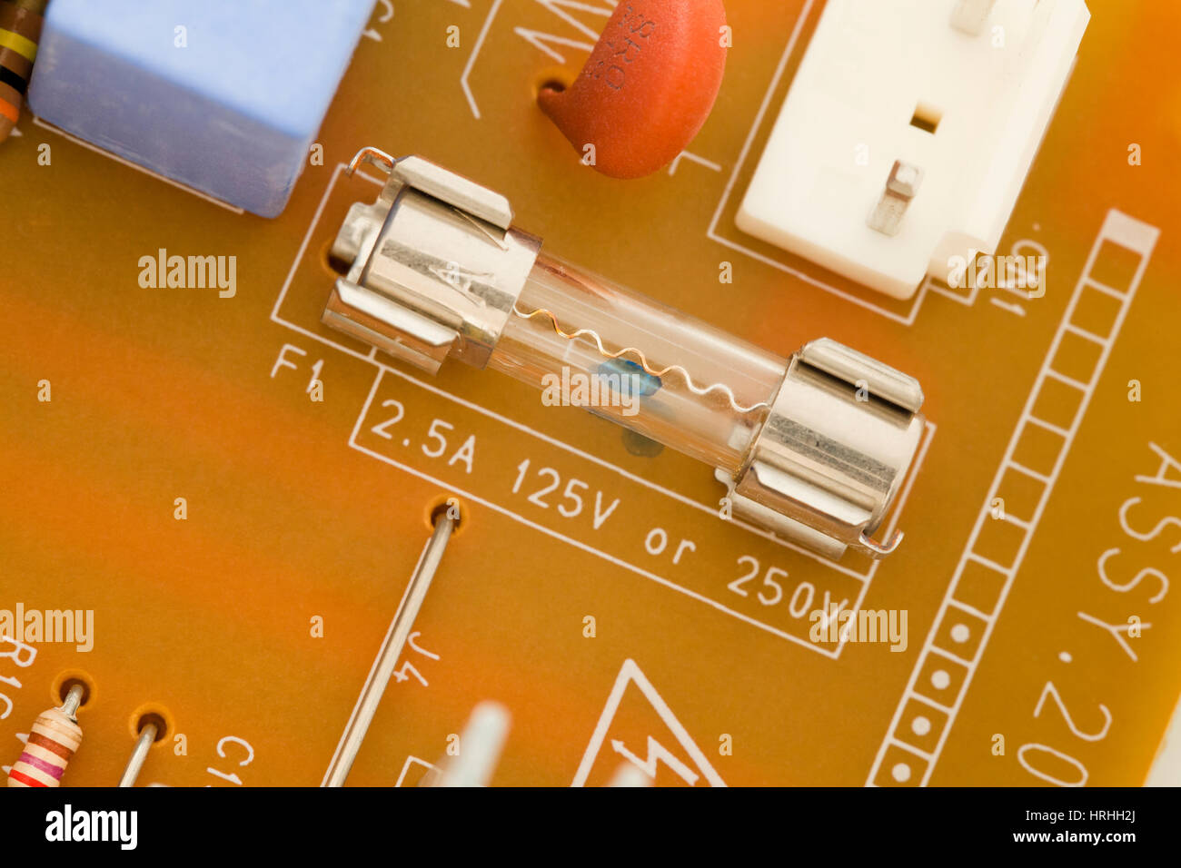 Electronic power supply CPB fuse (125v / 250v) - Stock Image