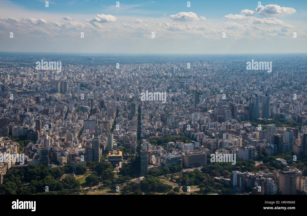 Aerial of Buenos Aires, Argentina - Stock Image