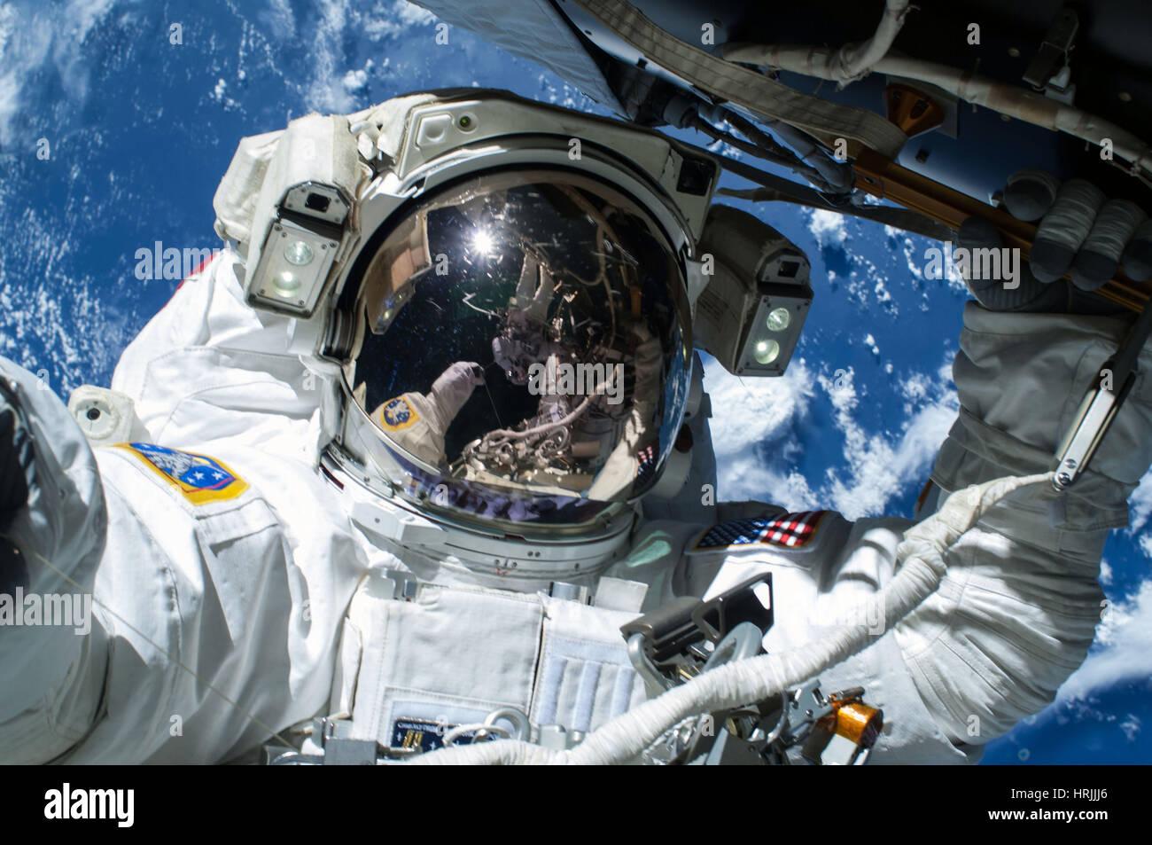 Astronaut Barry Wilmore EVA - Stock Image