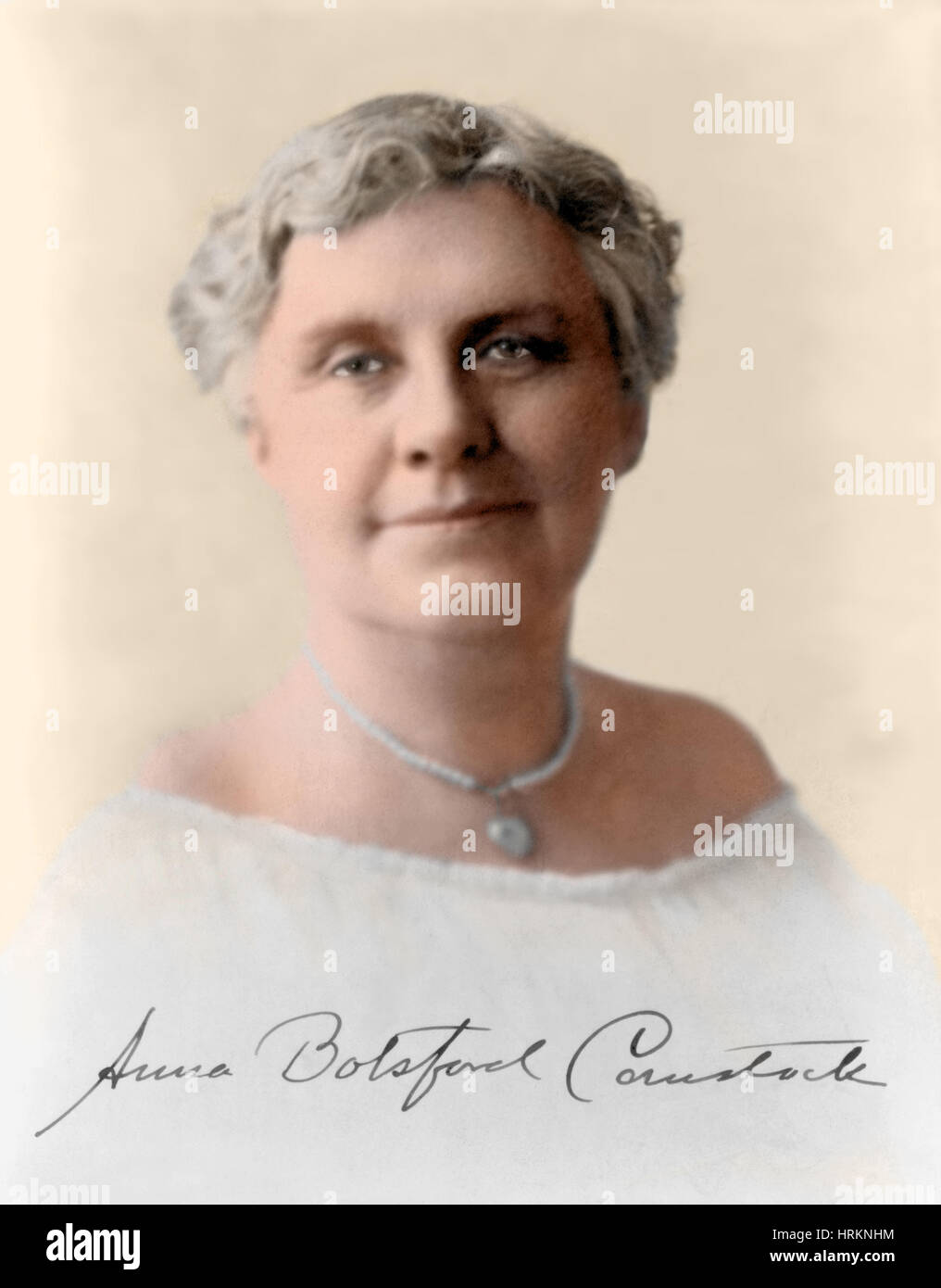 Anna Comstock, American Artist and Educator - Stock Image