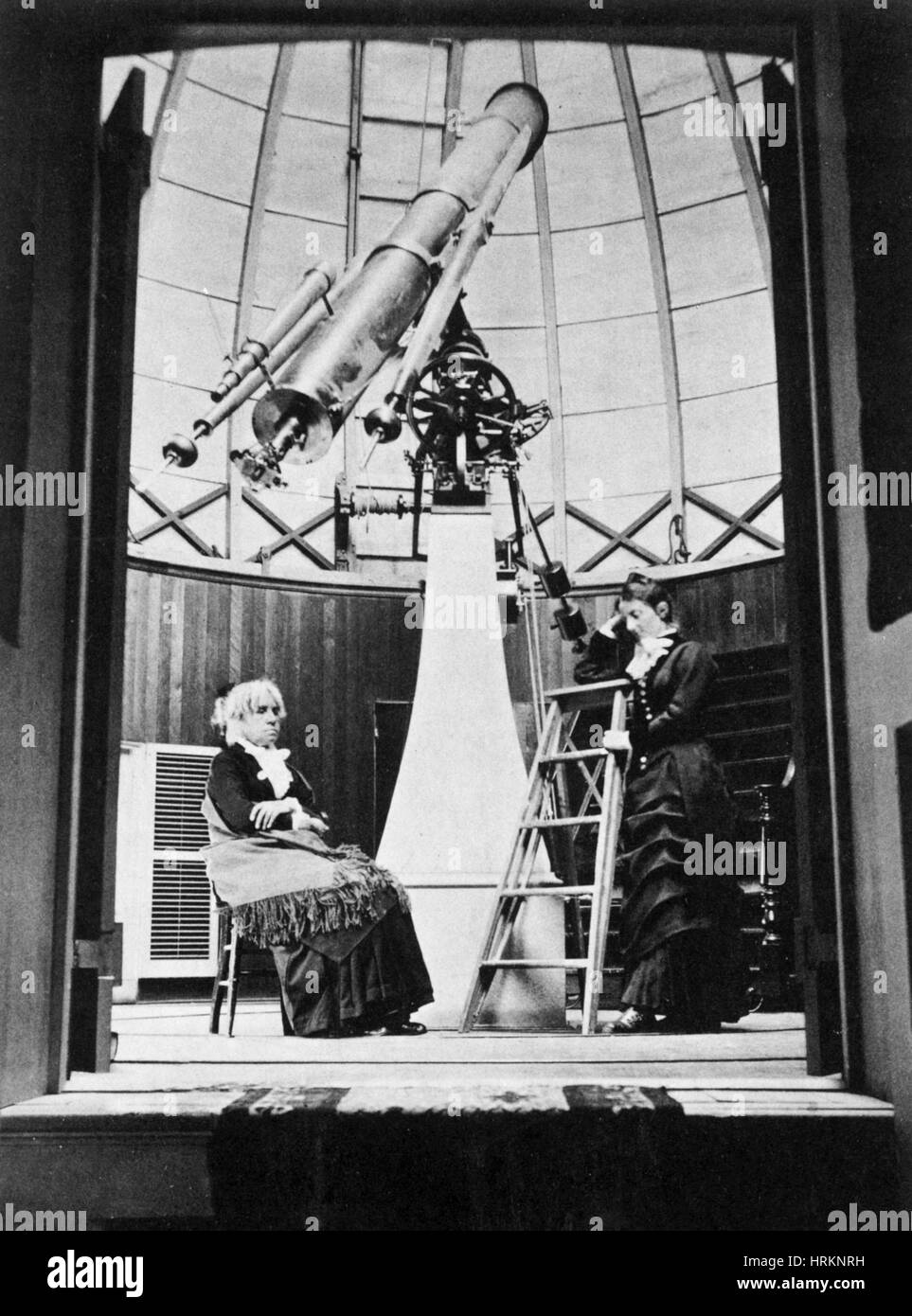 Maria Mitchell, American Astronomer Stock Photo