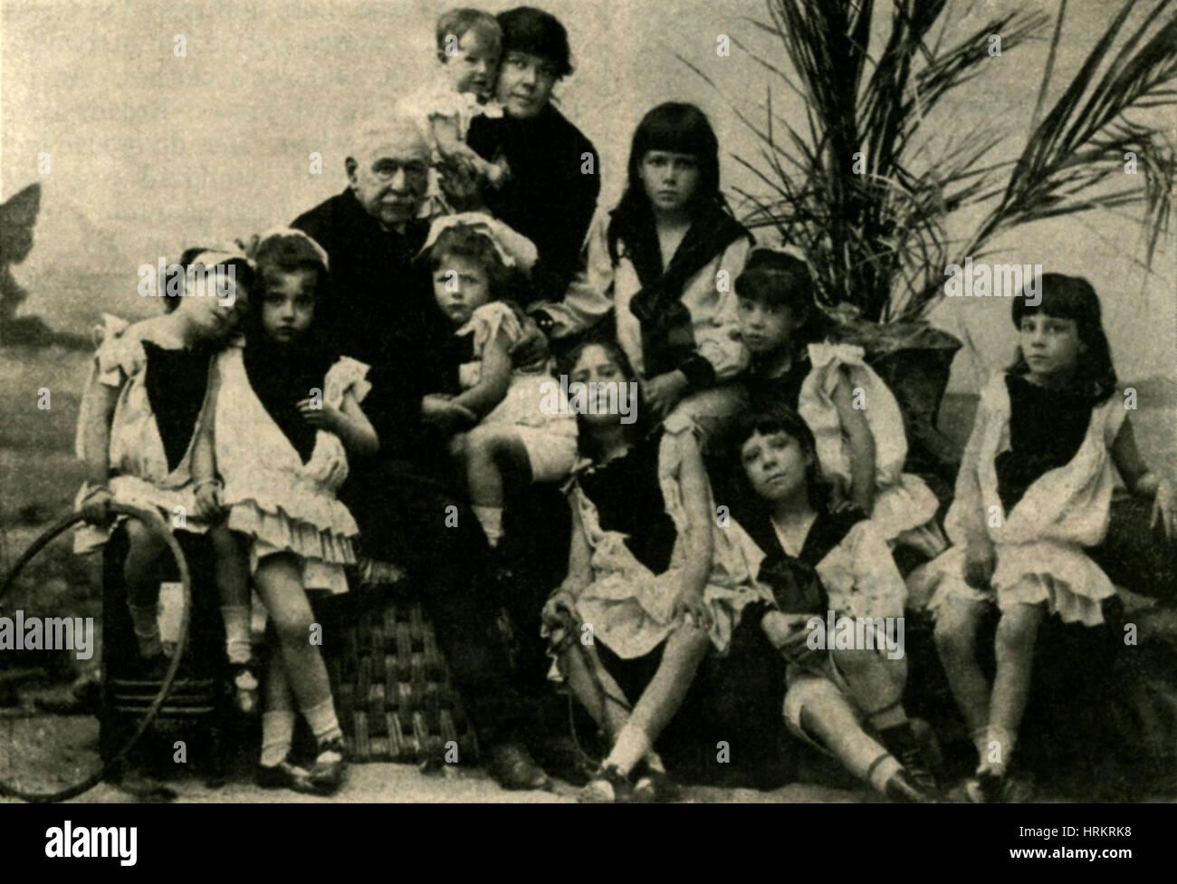 Ferdinand de Lesseps Family - Stock Image
