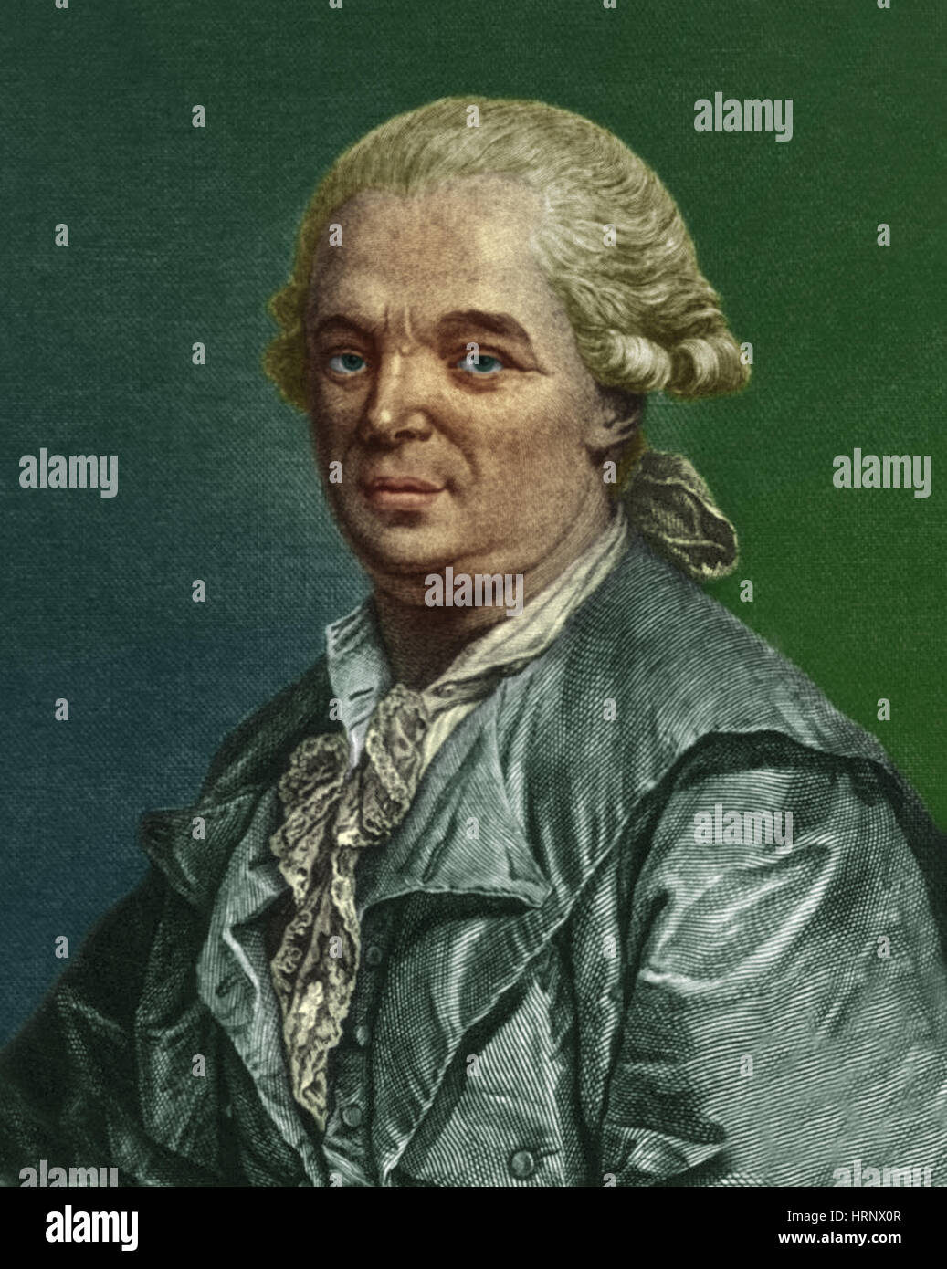 Franz Mesmer, German Physician Stock Photo