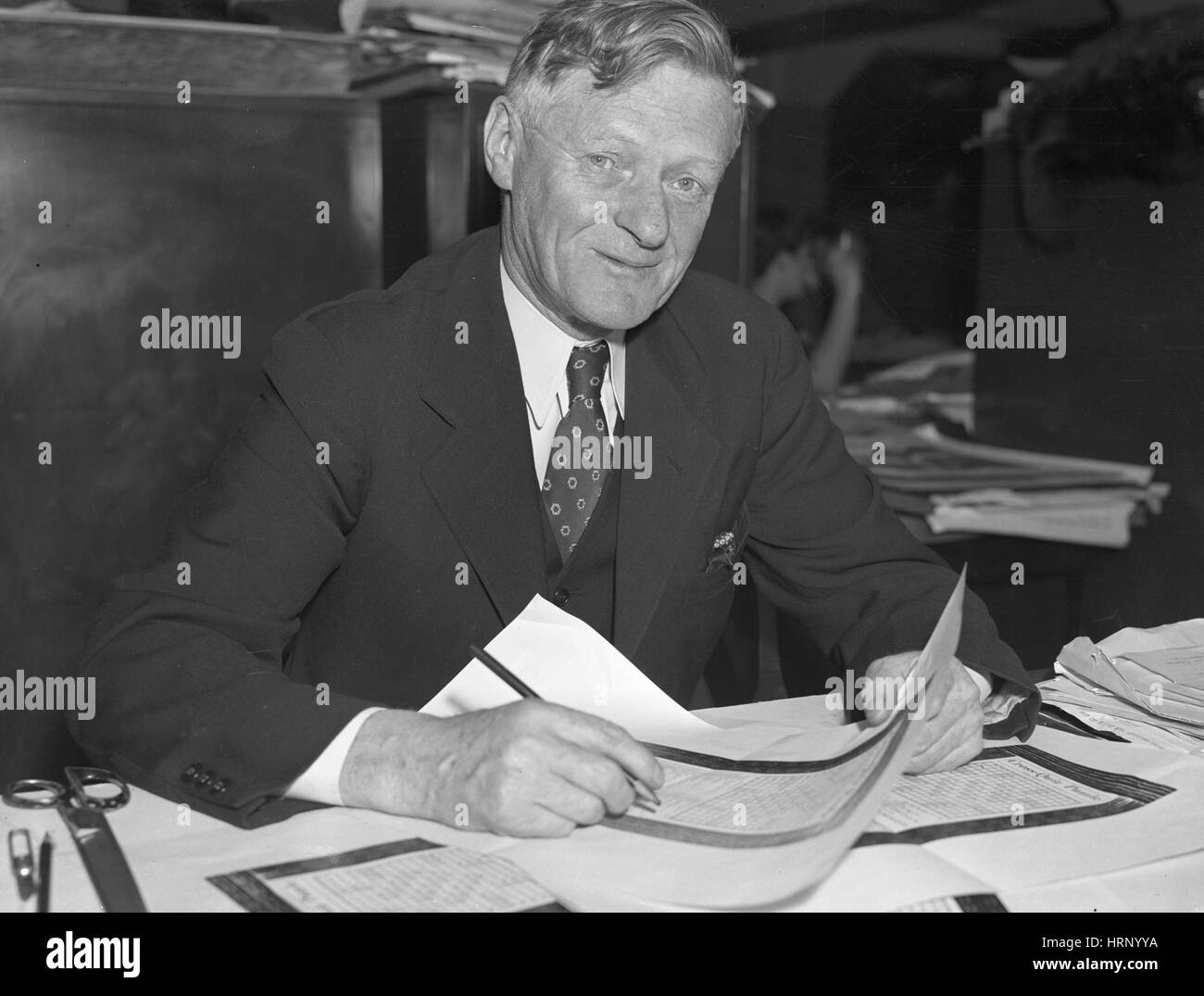 Arthur Wynne, English Inventor Stock Photo