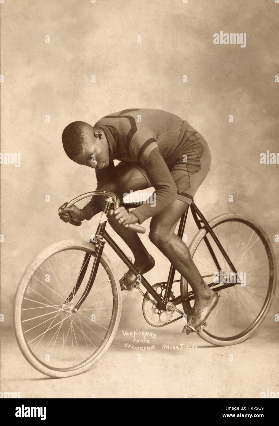 Marshall Taylor, World Champion Cyclist Stock Photo