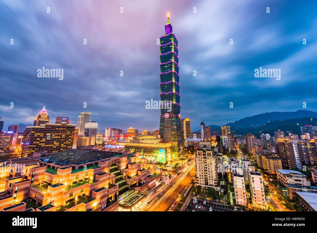 Taipei, Taiwan downtown skyline. - Stock Image