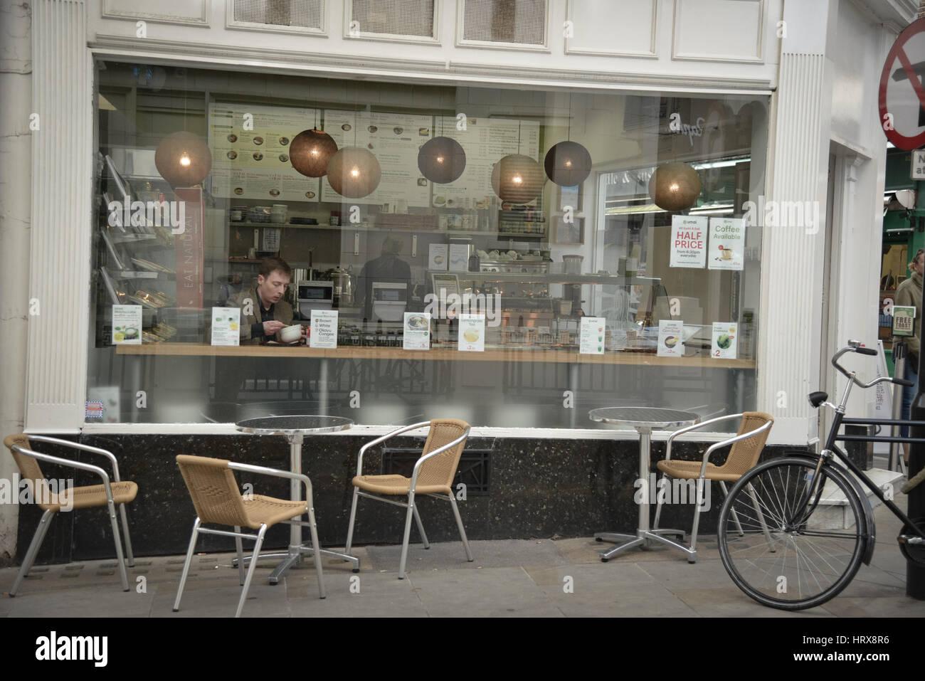 Cafe windows - Stock Image