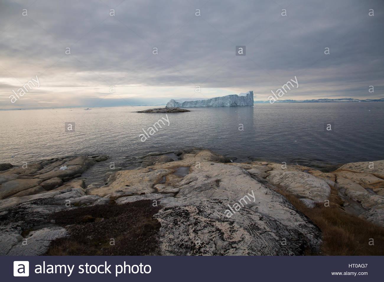 Iceberg Landscape Greenland Stock Photo