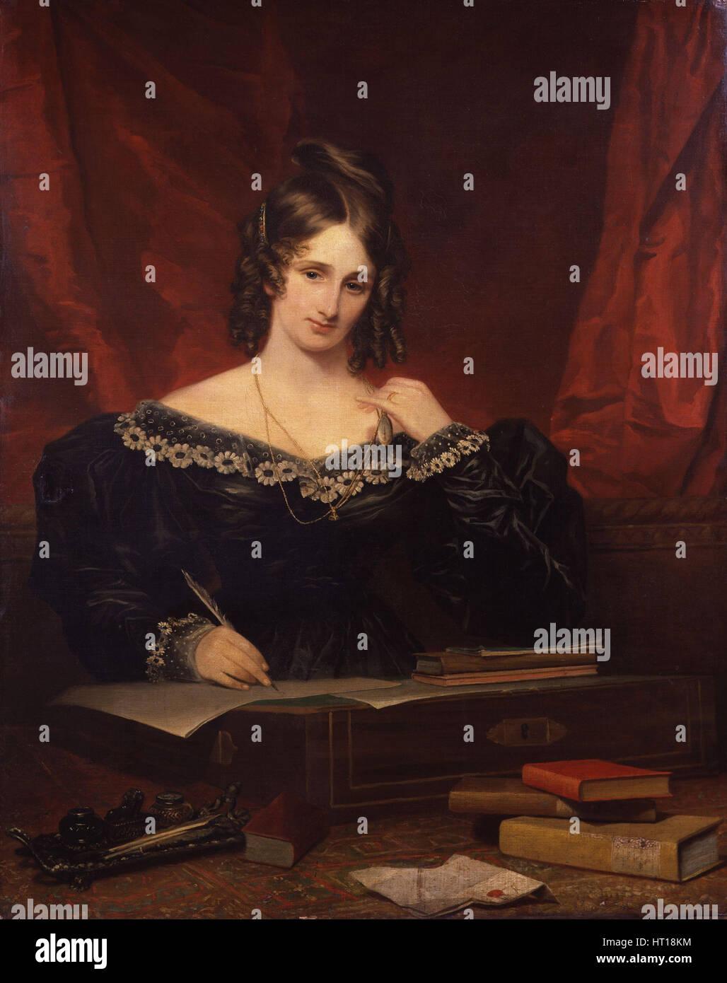 Mary Shelley, 1831. Artist: Stump, Samuel John (1778-1863) Stock Photo