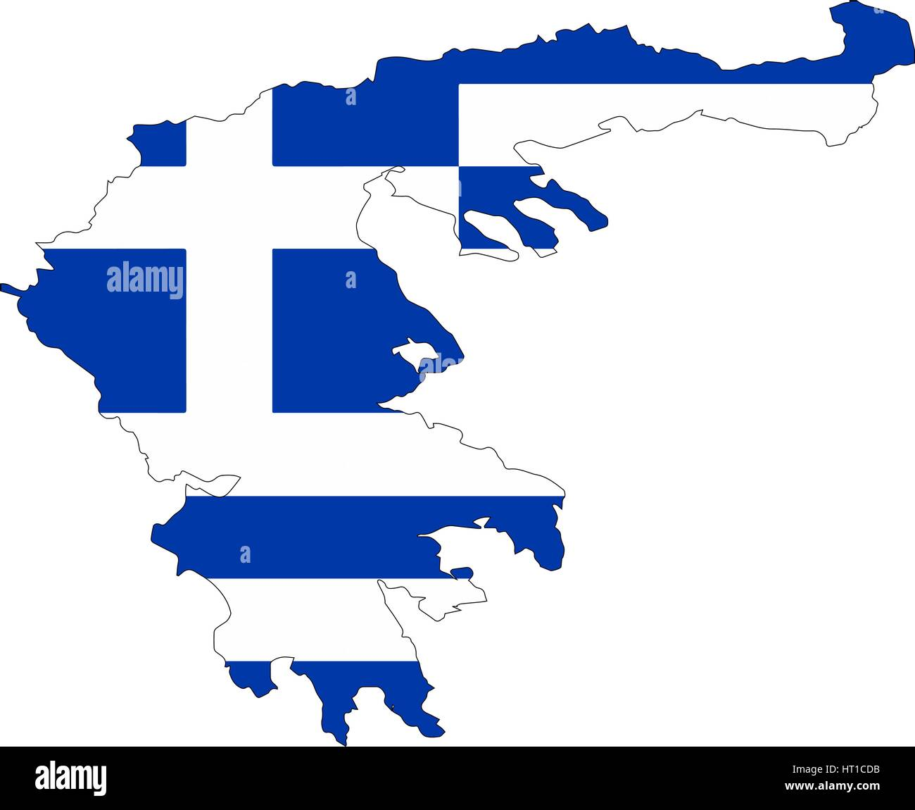 Greece map with a flag. Vector illustrator. On a white background ...