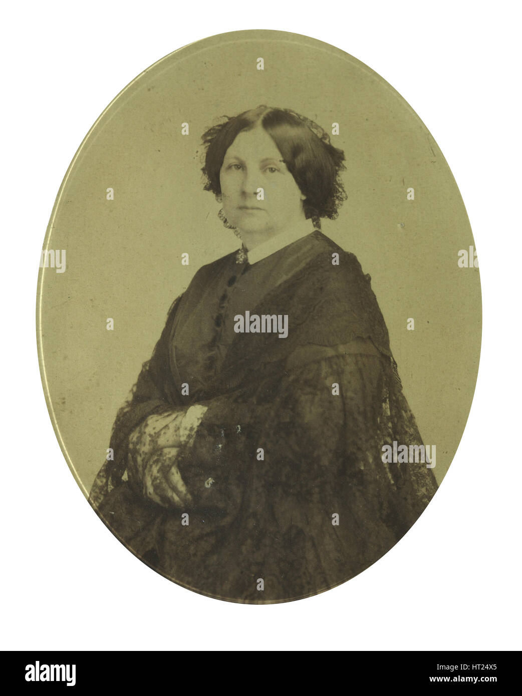 Anna Grigorievna Filosofova (1815-1892), 1850-1860s. Artist: Anonymous - Stock Image