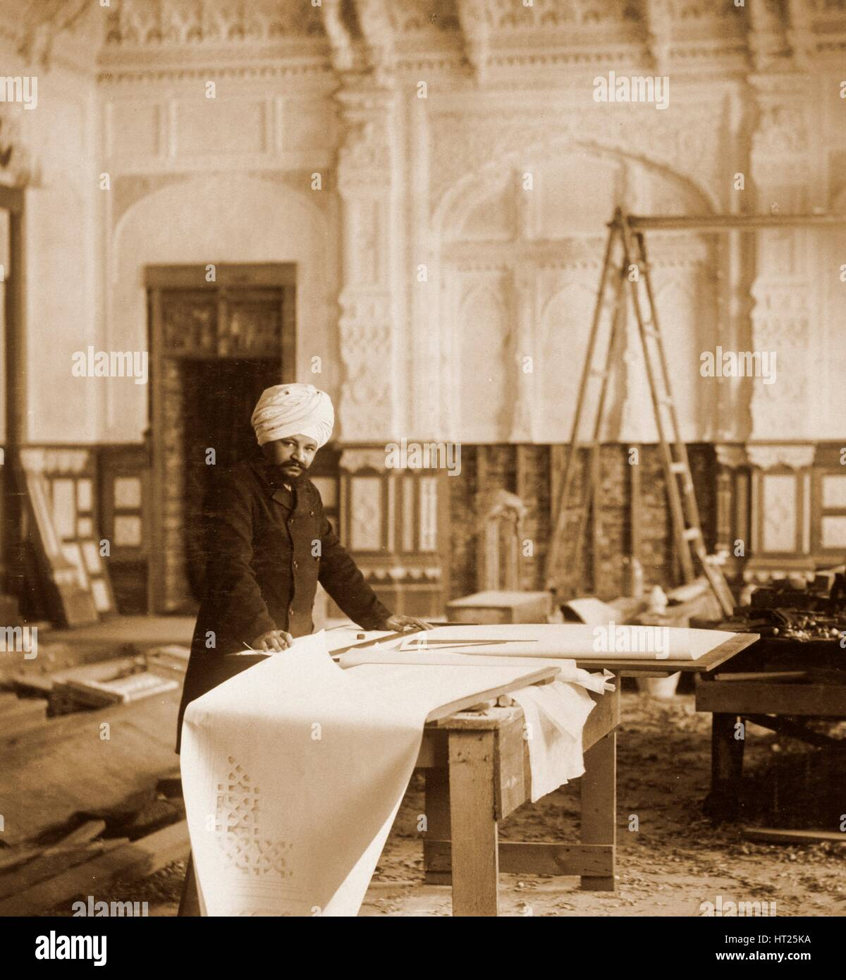 Bhai Ram Singh At Work In The Indian Room, Osborne House