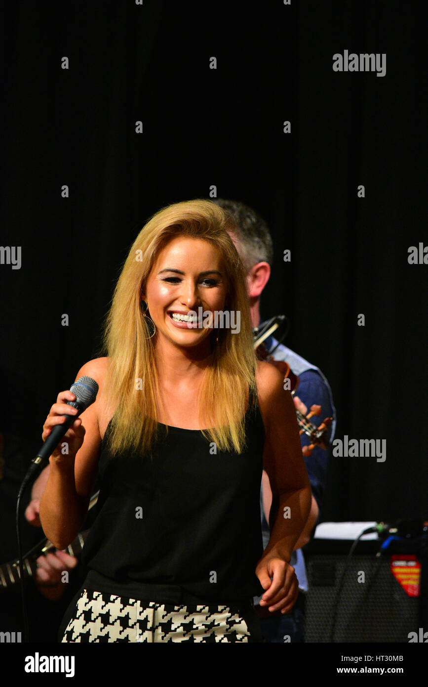 Irish Country sensation Cliona Hagan live on stage during An Evening Country Music stars live concert in memory - Stock Image