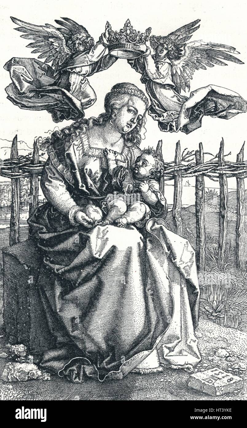'The Virgin and Child crowned by two Angels', 1518, (1906). Artist:  Albrecht Durer.
