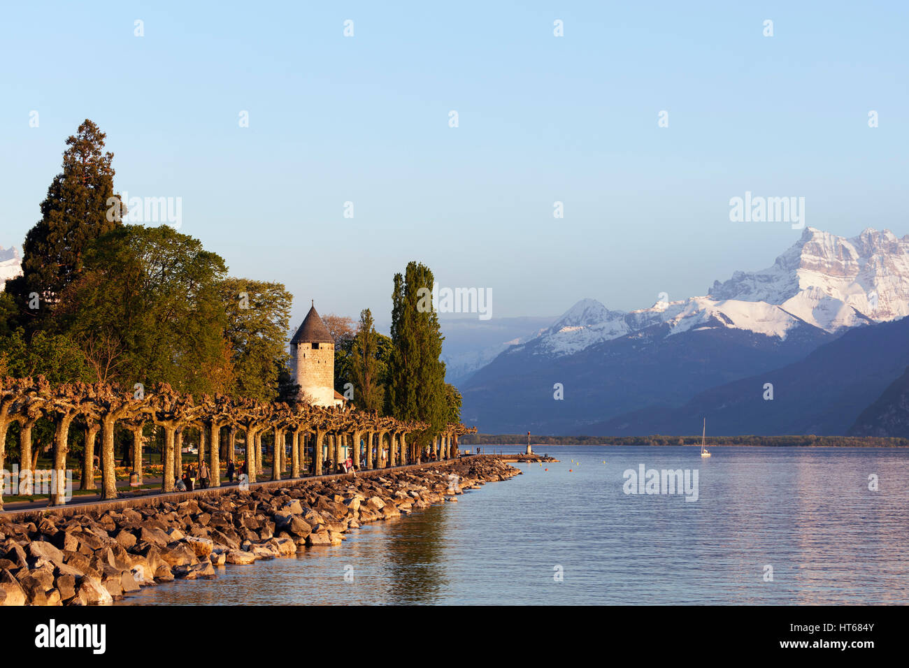 Musee Suisse du Jeu (The Swiss Museum of Games), Lake Geneva (Lac Leman), Vevey, Vaud, Switzerland - Stock Image