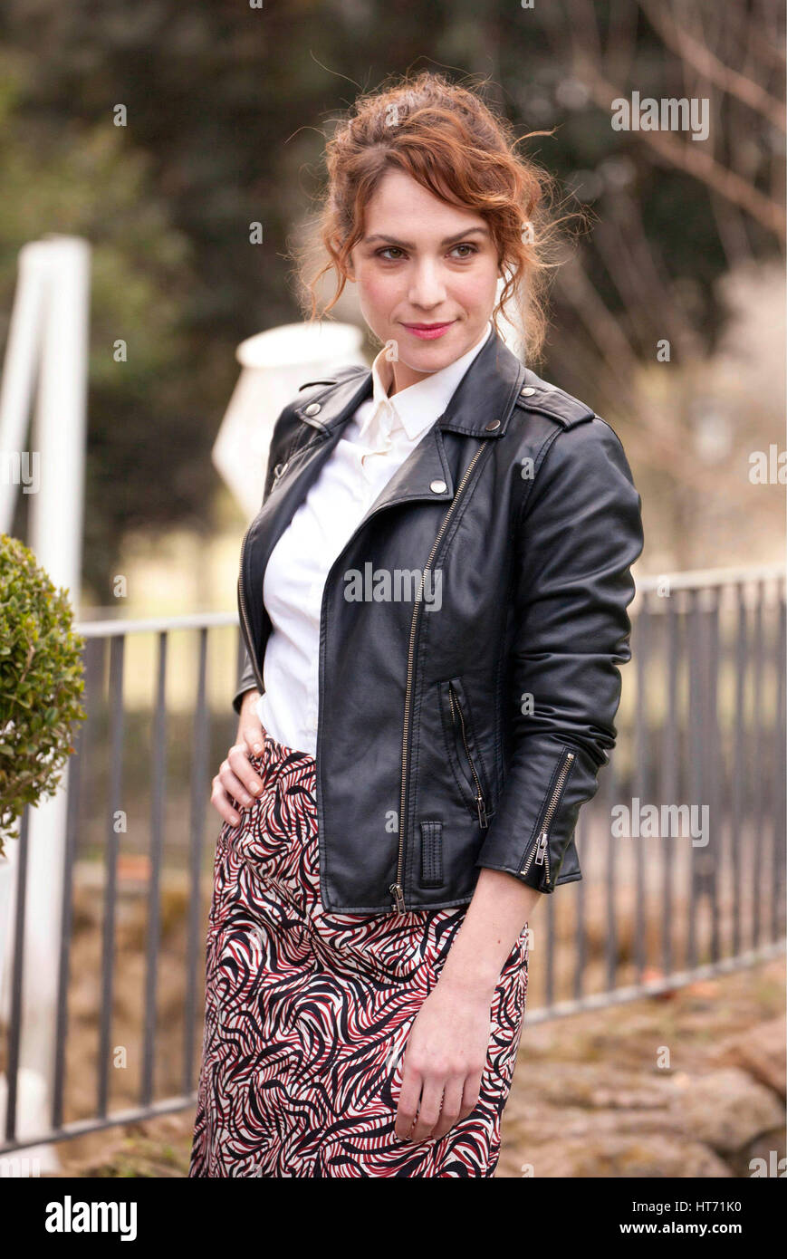 The actress Isabella Ragonese during the photocall of movie ' Il padre d'Italia ', Rome, Italy, Feb - Stock Image