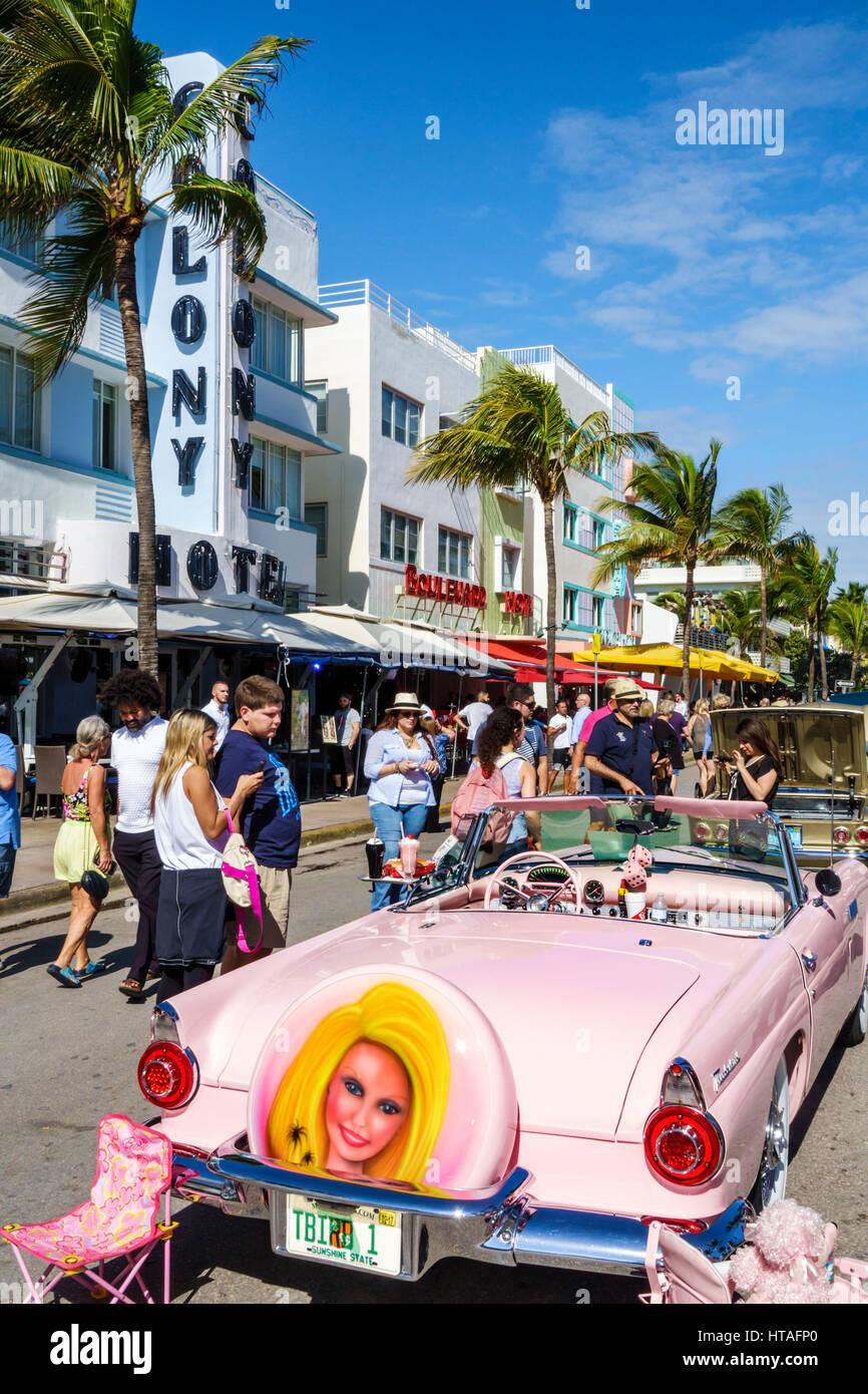Miami Beach Florida Ocean Drive Art Deco Weekend Community Festival - Florida state fairgrounds car show