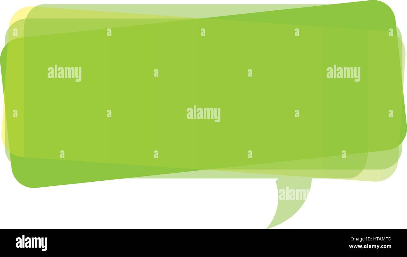 green square chat bubble icon vector illustraction design stock
