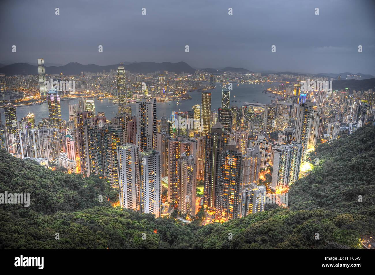 Hong Kong The Peak Stock Photo
