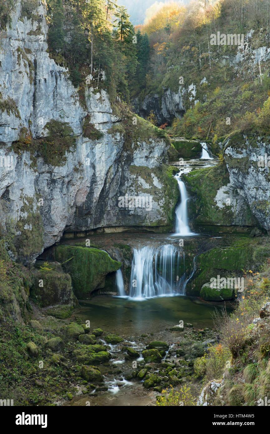 Cascade de la Billaude, Franche-Comté, France - Stock Image