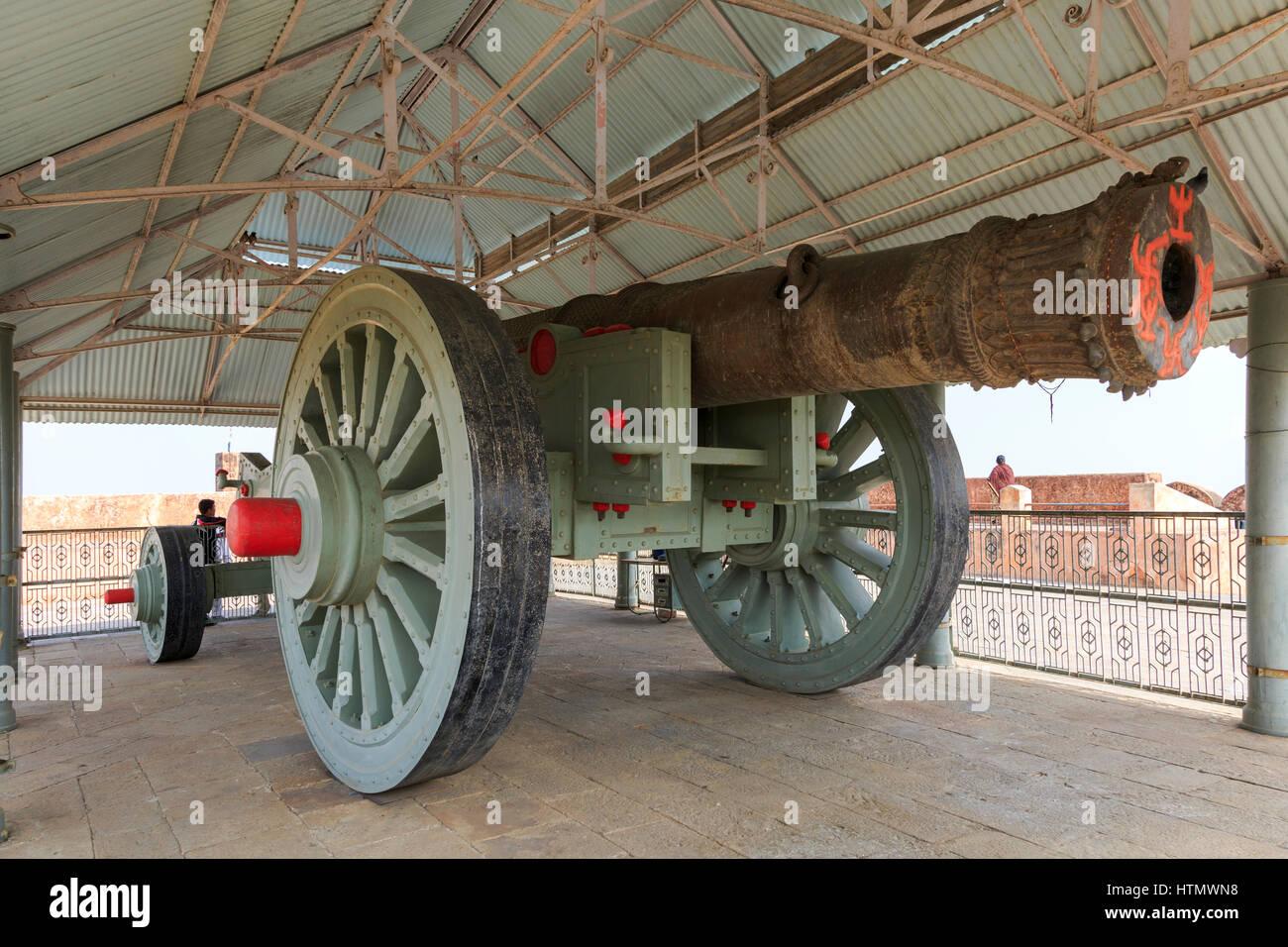 Jaivana cannon, Fort Jaigarh, Jaipur, Rajasthan, India - Stock Image
