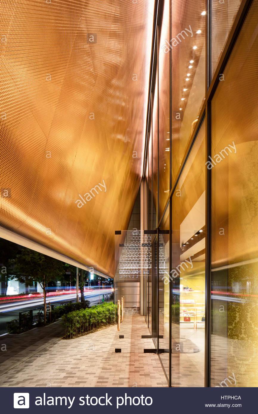Facade perspective. Miu Miu Tokyo, Tokyo, Japan. Architect  Herzog   de  Meuron, 2015. 9e0c1a59b4