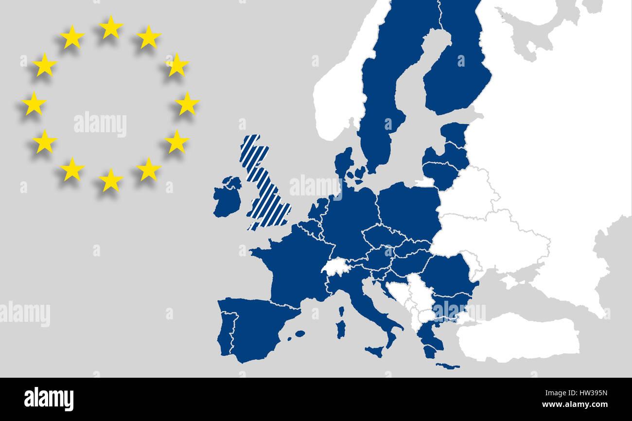Map eu countries european union brexit uk world map europe map eu countries european union brexit uk world map europe eurasia eu logo stars illustration grey blue gumiabroncs Choice Image