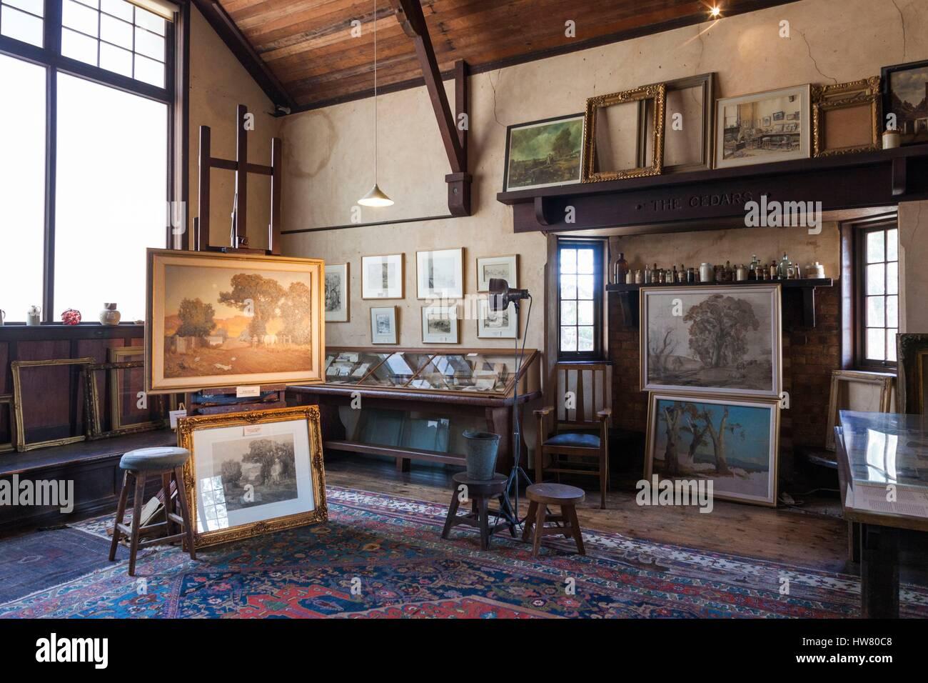 Australia, South Australia, Adelaide Hills, Hahndorf, The Cedars, former studio of landscape painter Hans Heysen, Stock Photo