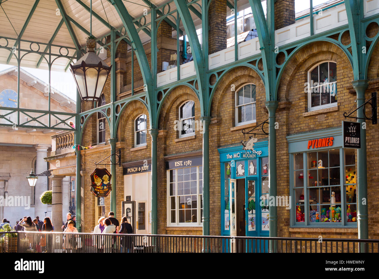 Covent Garden market shops and pub. London, England Stock Photo ...