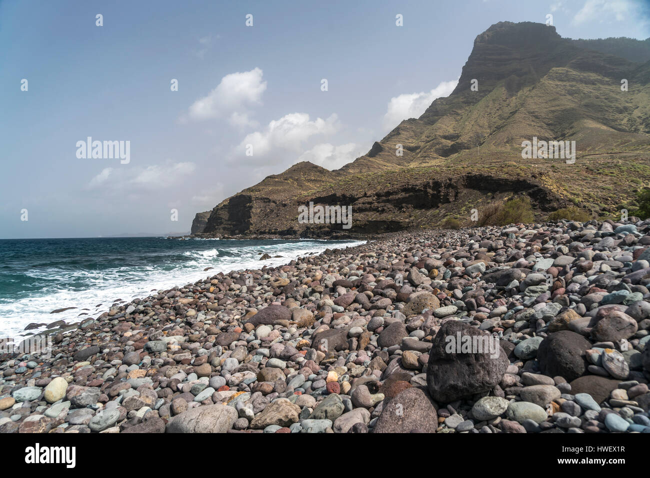 Strand Playa de la Guayedra bei Agaete, Insel Gran Canaria, Kanarische Inseln, Spanien |  Playa de la Guayedra beach Stock Photo