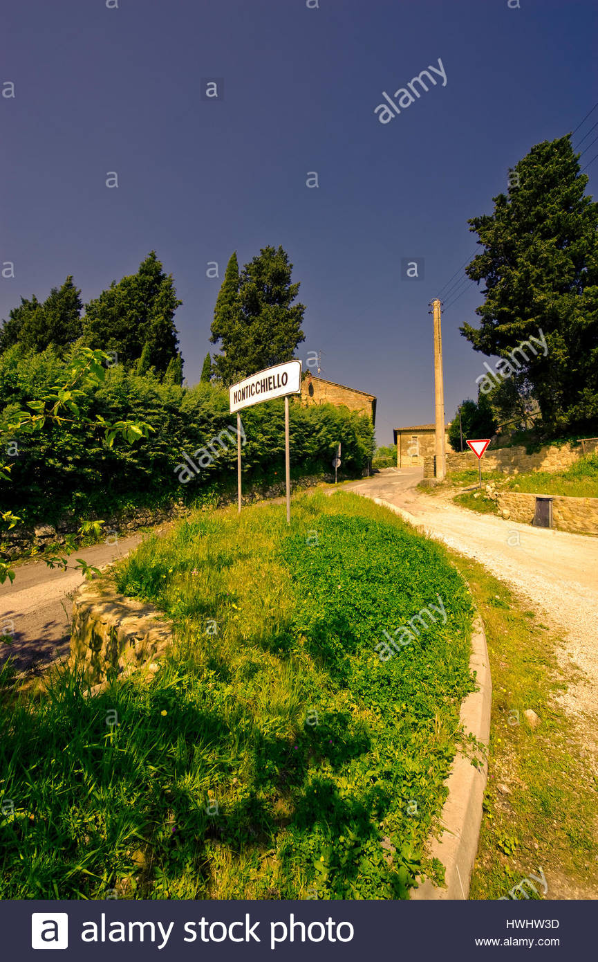 The famous Monticchiello, Tuscany, Italy - Stock Image