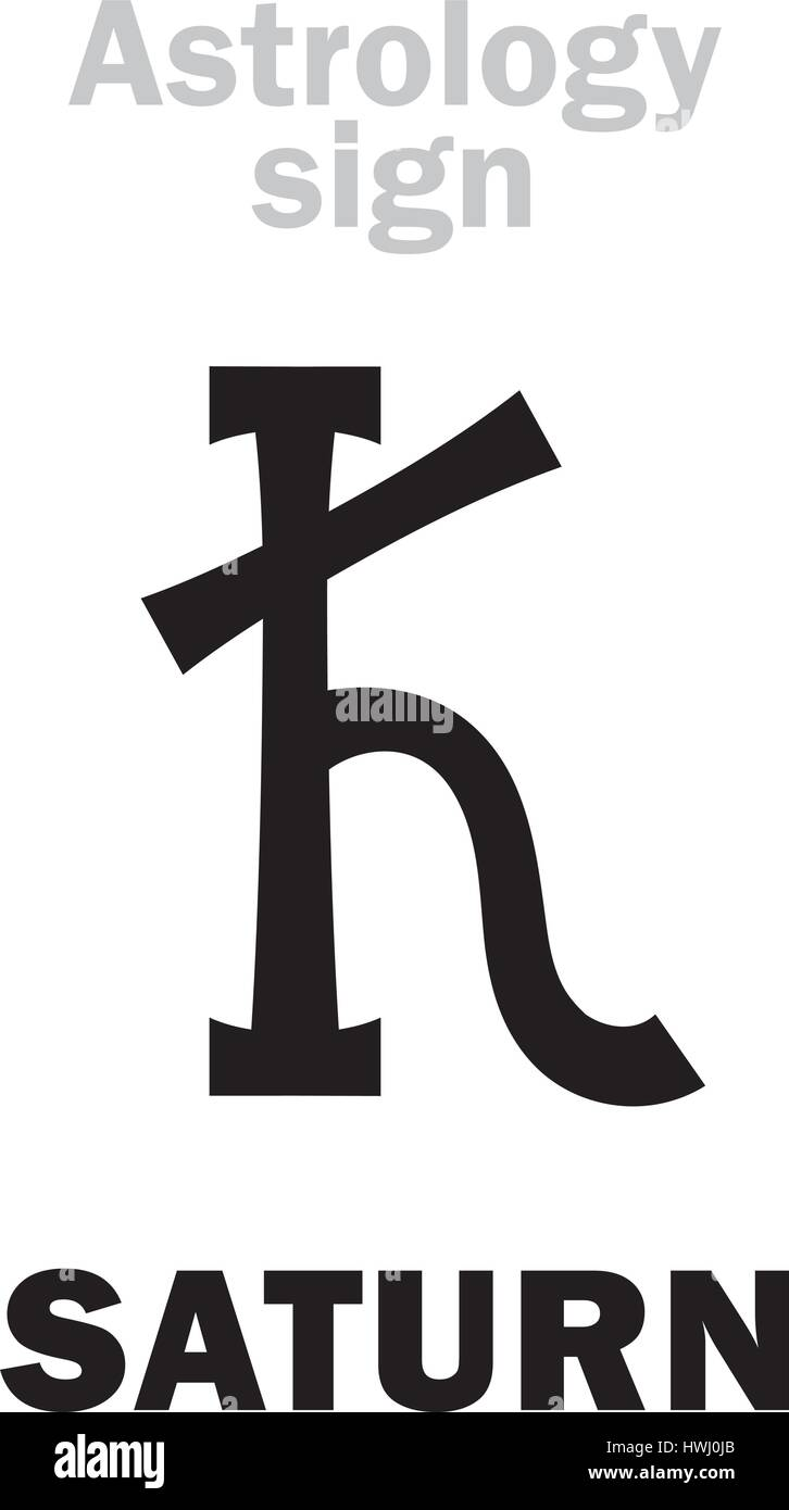 Astrology Alphabet Saturn Kronos Classic Major Planet Stock