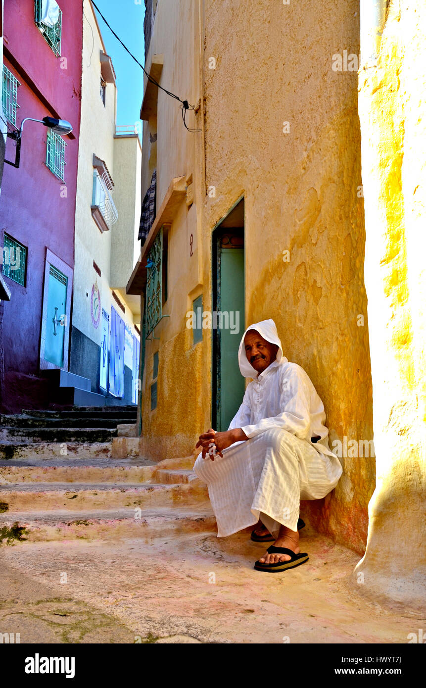 Berber cave village Bhalil Stock Photo