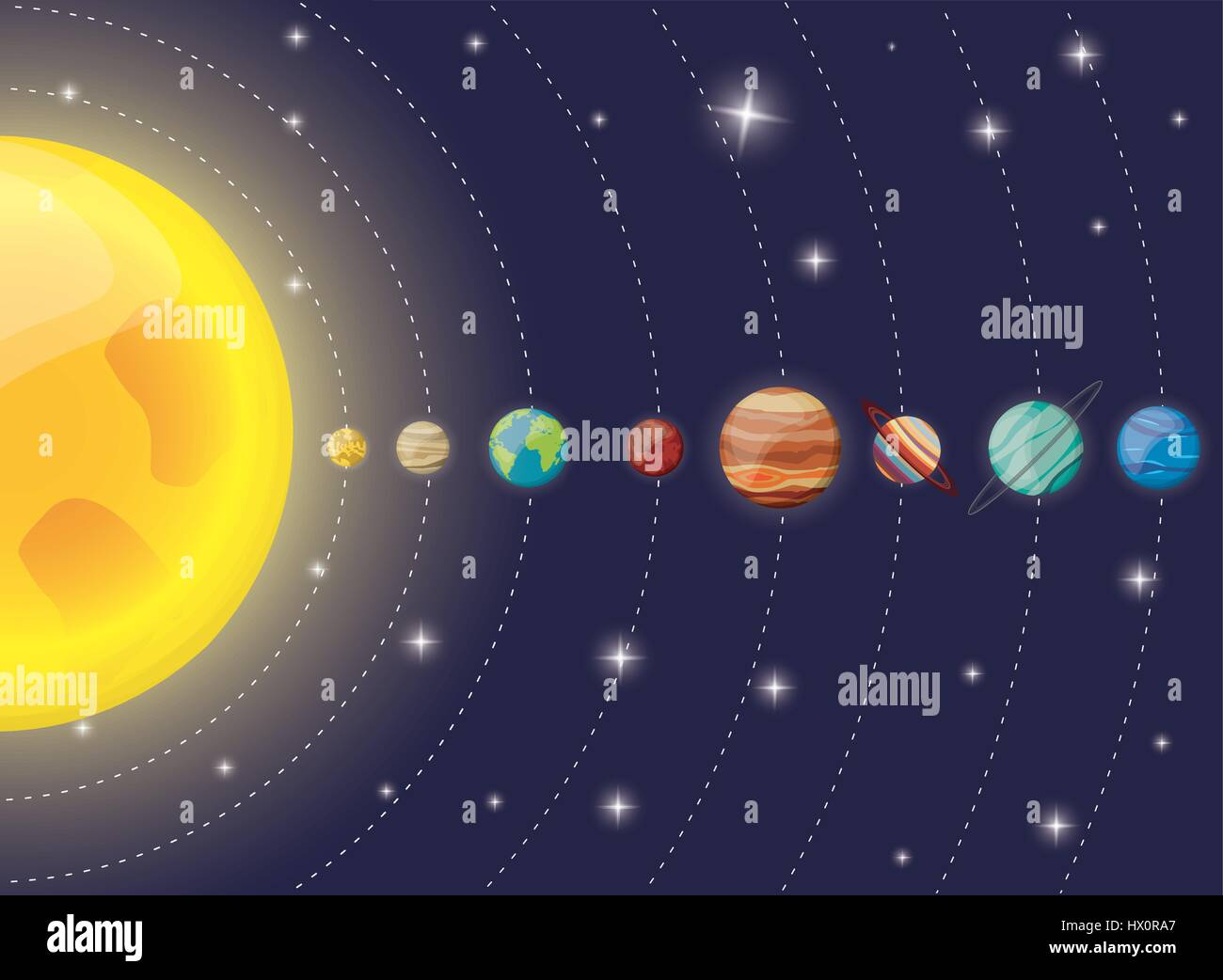 Solar system planets sun diagram stock vector art illustration solar system planets sun diagram ccuart Image collections