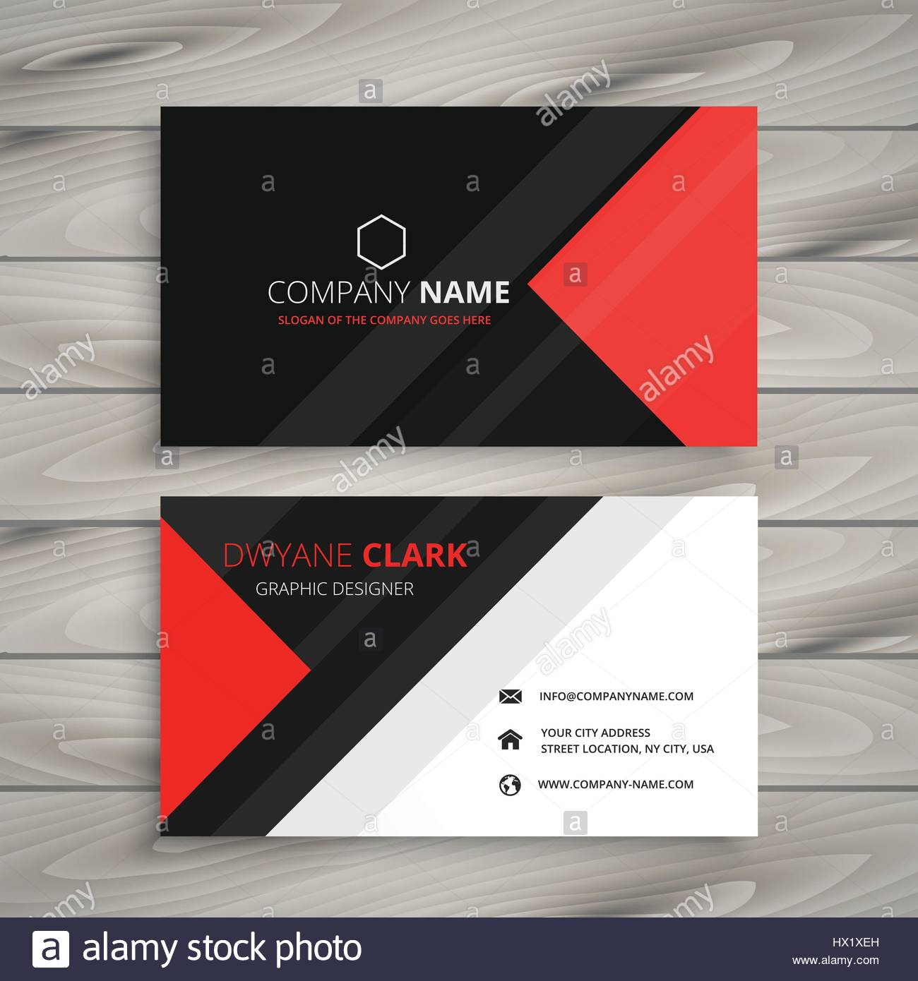 Red black corporate business card template vector design red black corporate business card template vector design illustration friedricerecipe Gallery