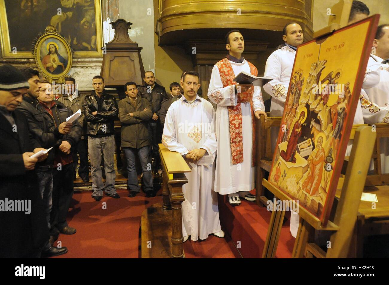 Milan Italy Mass For Christmas In The Egyptian Coptic Orthodox