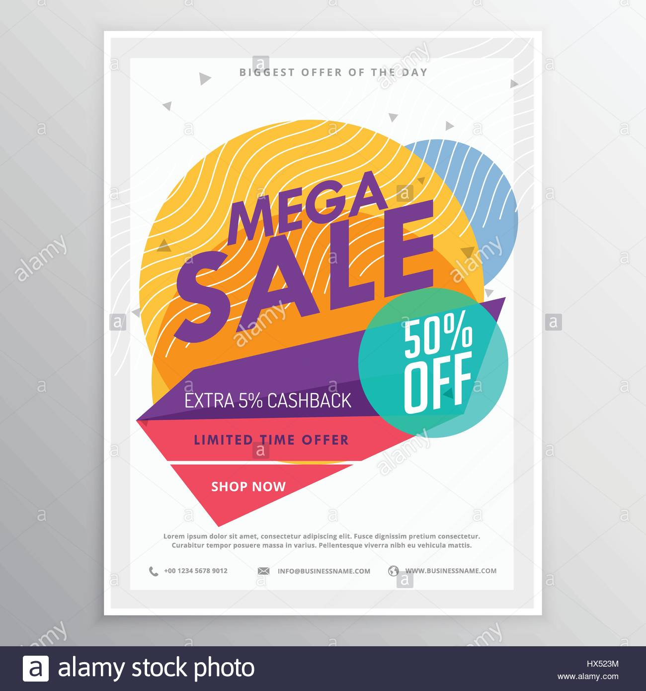 amazing sale discount brochure flyer template card for your
