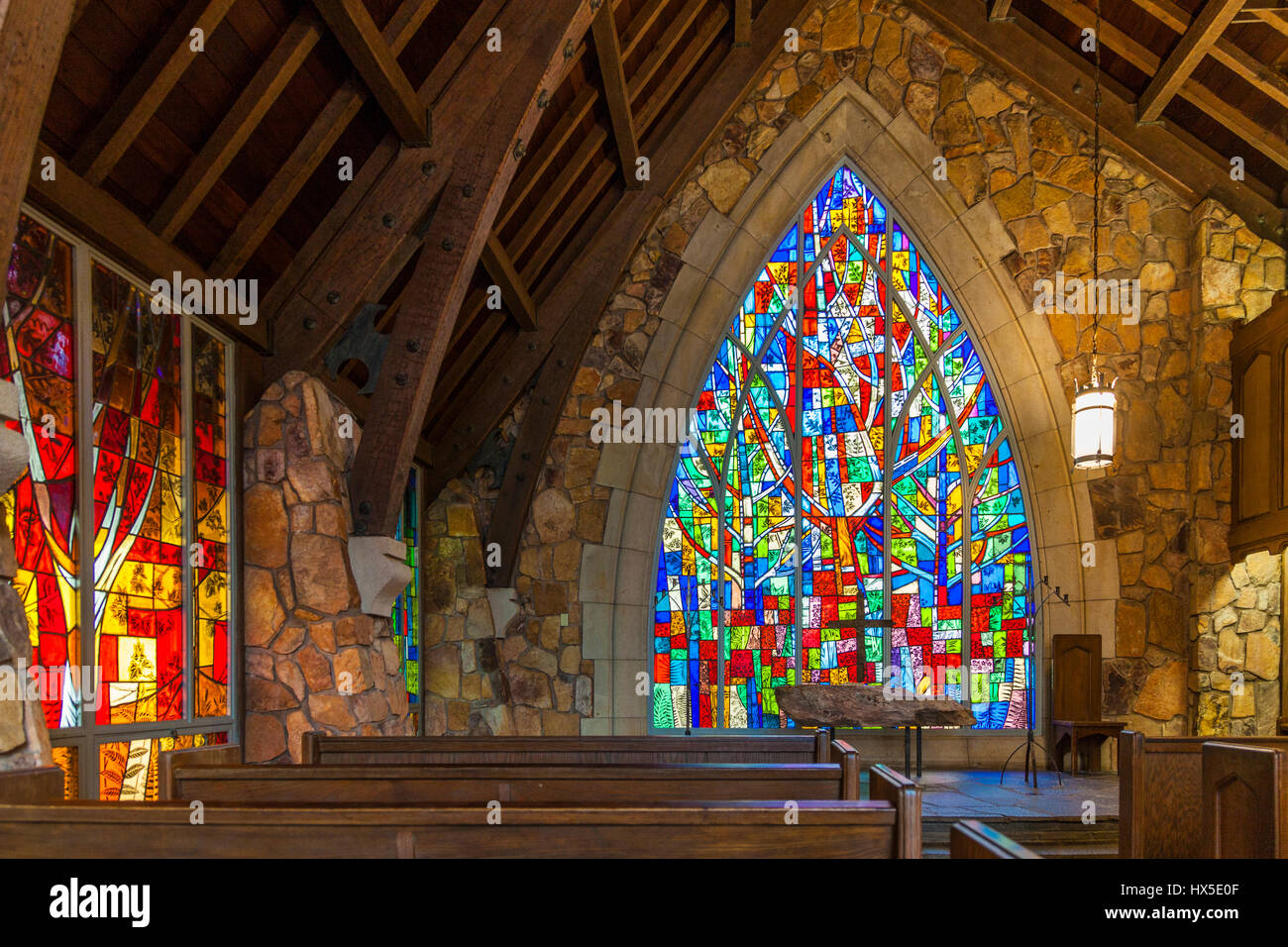 Stained Glass artwork windows in Ida Cason Callaway Memorial Chapel ...