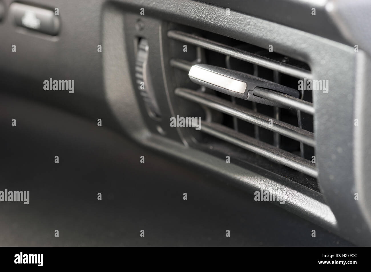 Air Conditioner Vent Grill In A Modern Car Stock Photo 136615092