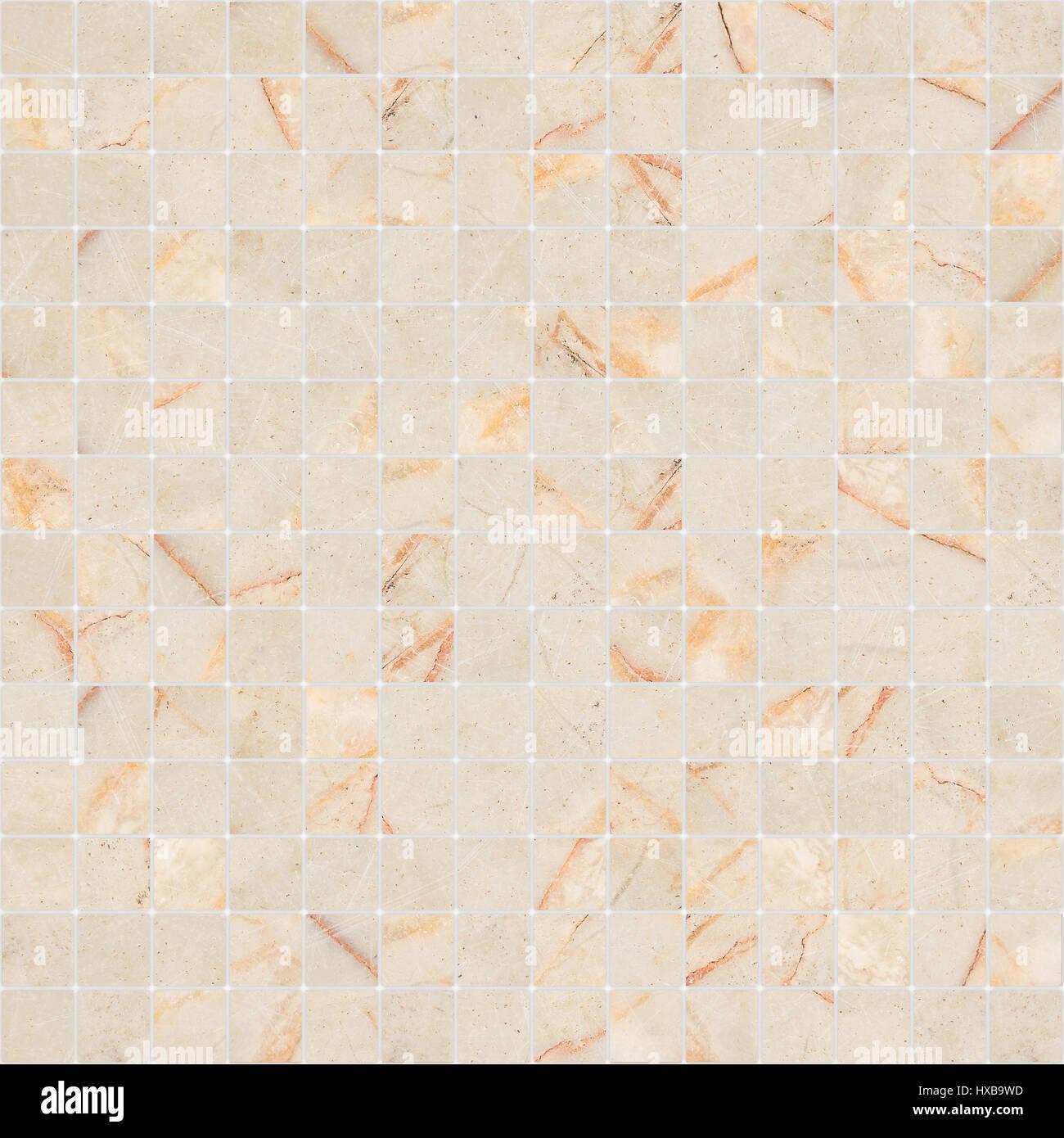 White Marble Tile Texture In Yellow White Mosaic Marble Tile Texture Seamless Stock Photo
